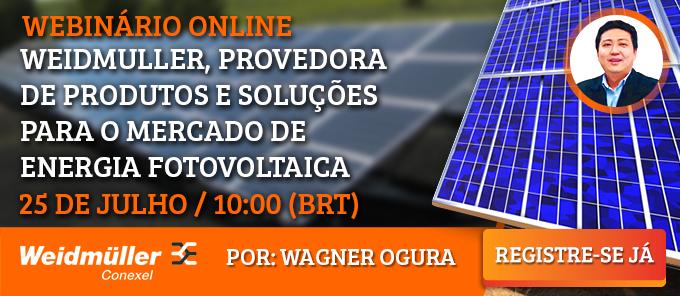Participe no webinar sobre produtos e soluções Weidmüller para o mercado fotovoltaico