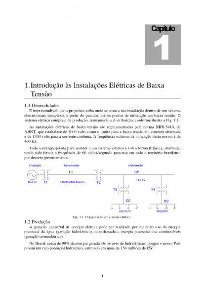 db031de33ed Introdução às instalações elétricas de Baixa Tensão